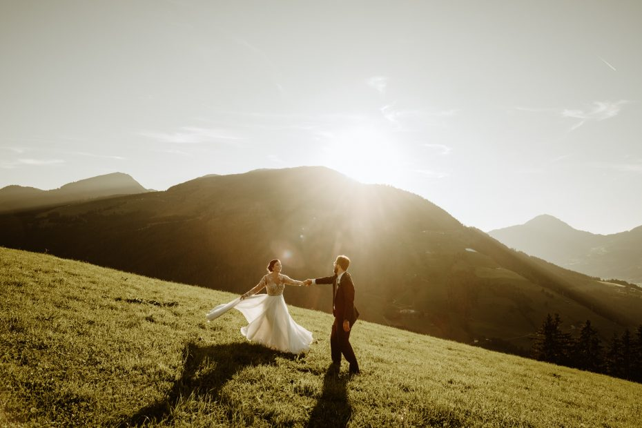 A mountain wedding in Kitzbühel Austria at the Maierl Alm by Wild Connections Photography