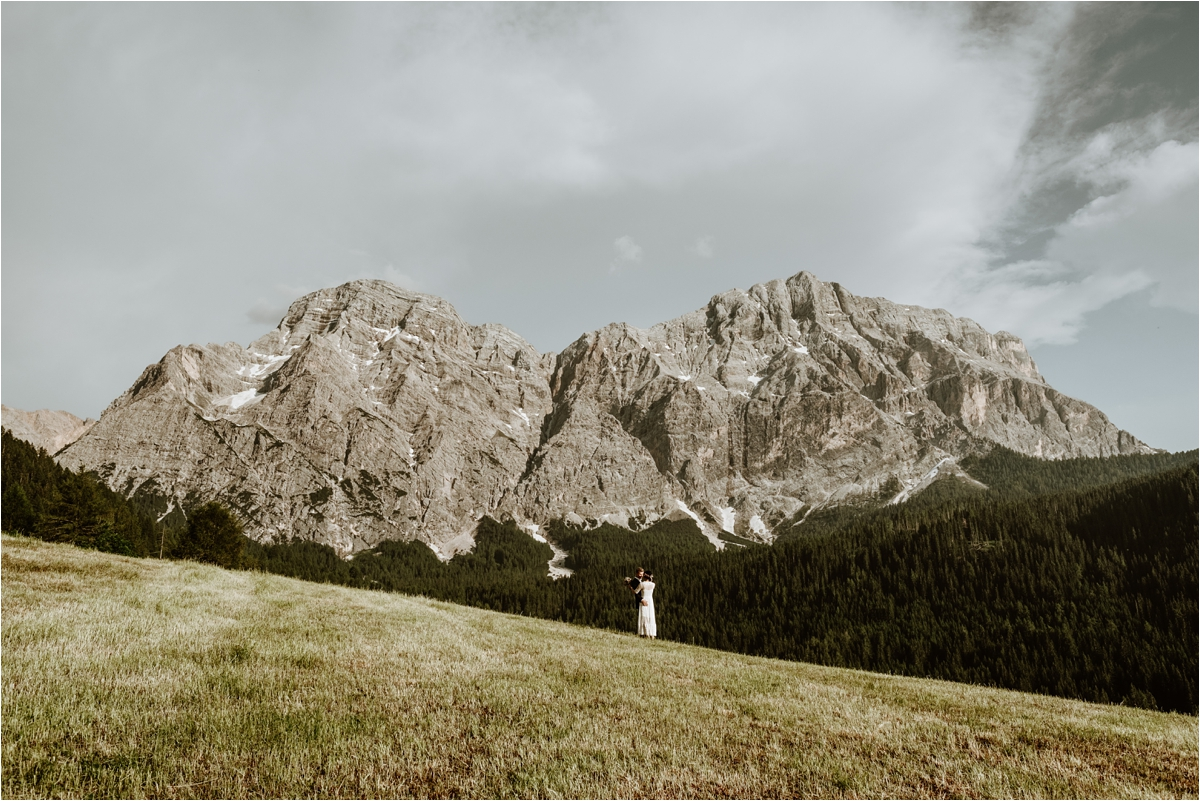 An intimate wedding in the Dolomites in Val Badia by Wild Connections Photography