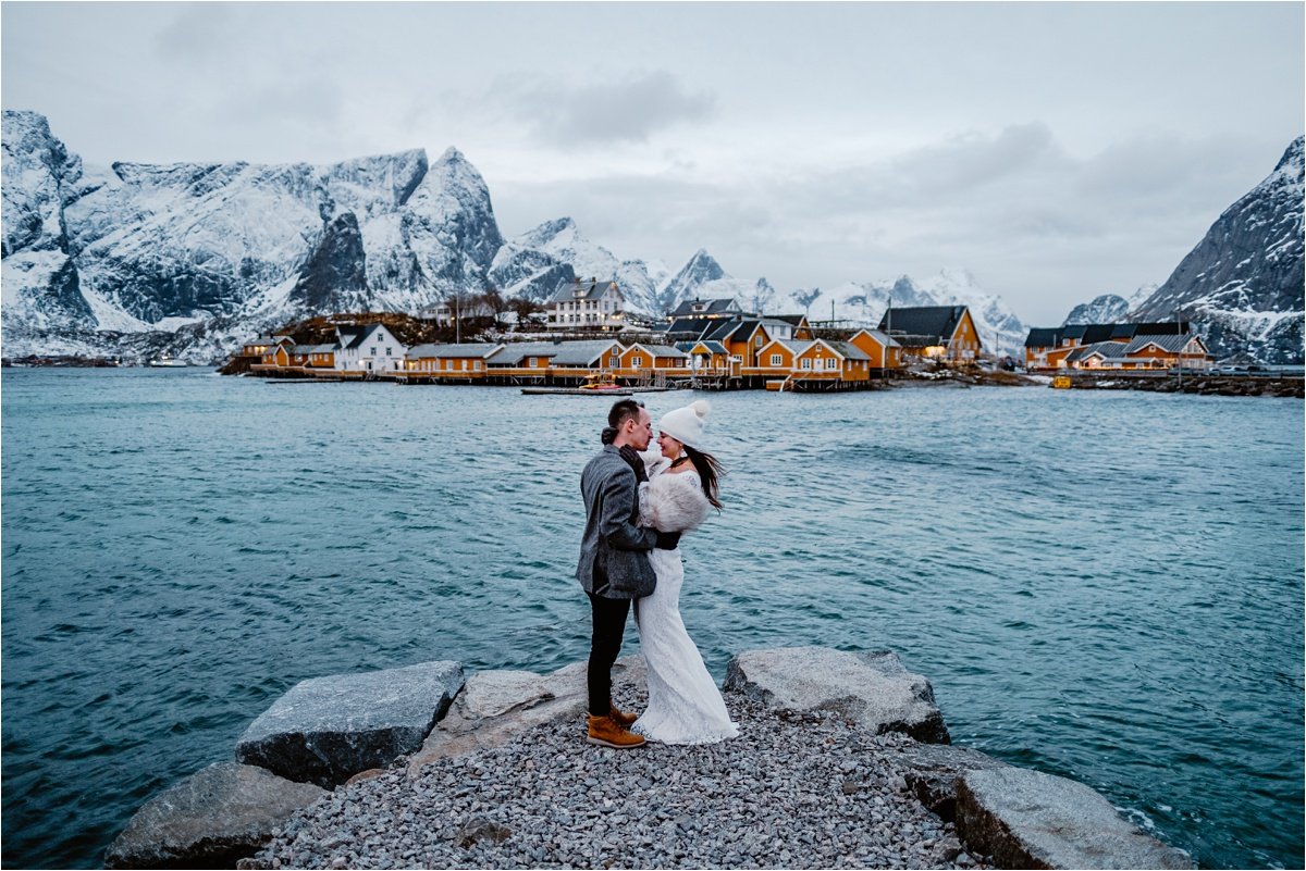 Lofoten Norway Elopement Wedding in Winter - Wild Connections Photography