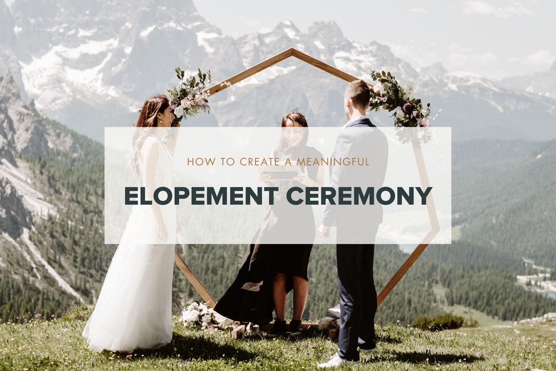 how to personalize your elopement ceremony