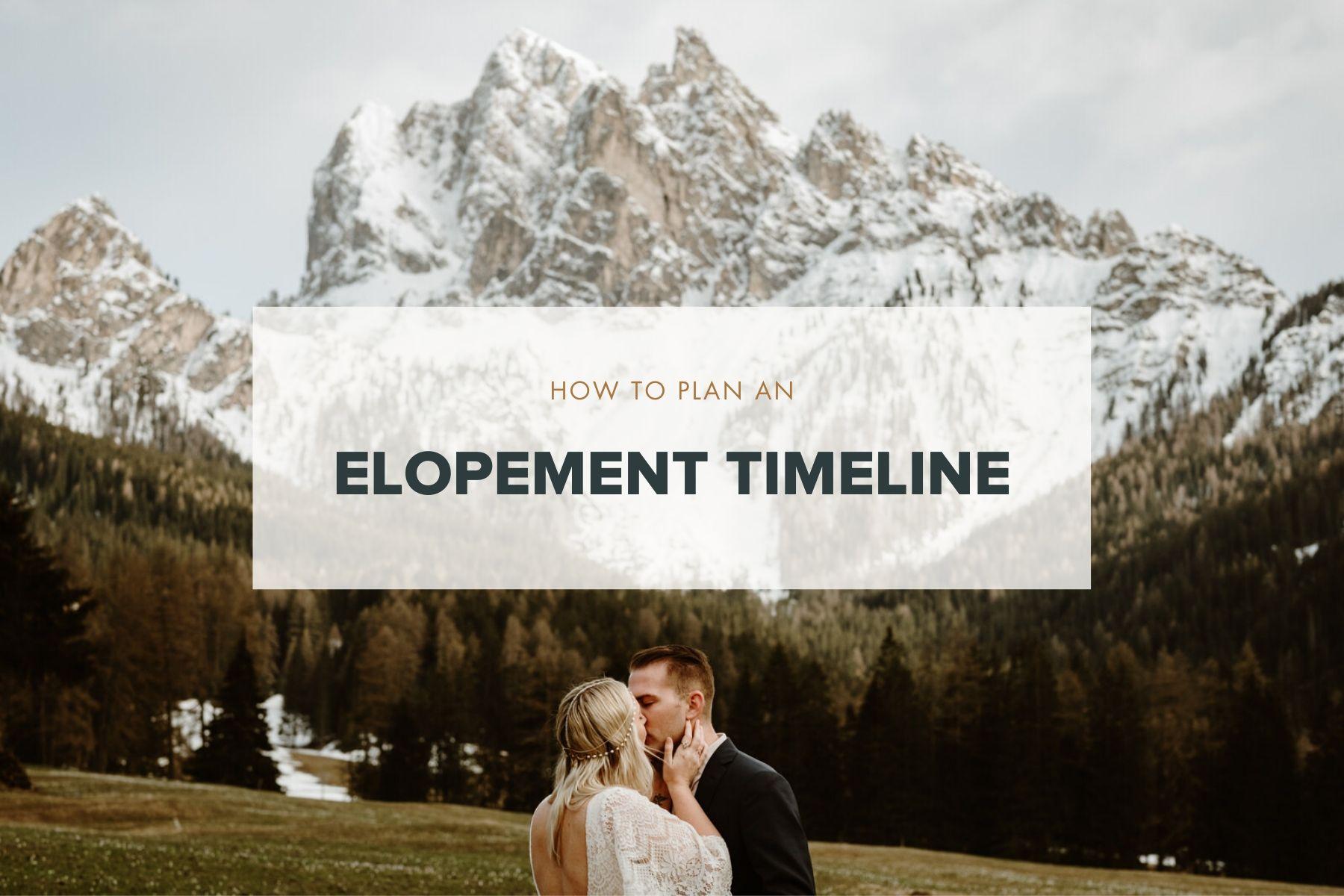 Planning an elopement Timeline