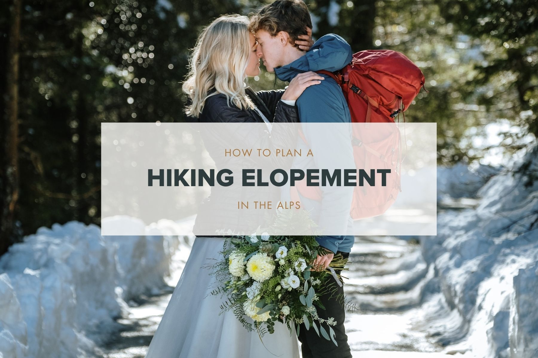 how to plan a hiking elopement blog post